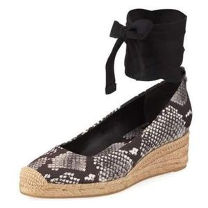 NWOB TORY BURCH Heather Ankle Wrap Espadrille Wedg